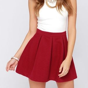 Lulu's Wine Red Mini Skirt